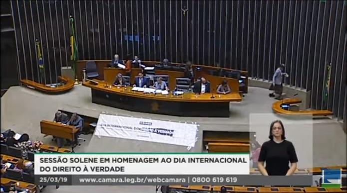 Homenagem ao Dia Internacional do Direito à Verdade na Câmara dos Deputados